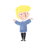 Retro cartoon blond boy Royalty Free Stock Image