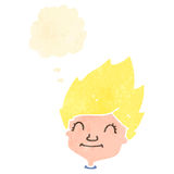 Retro cartoon blond face Royalty Free Stock Image