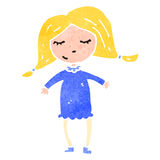 Retro cartoon blond girl Royalty Free Stock Image