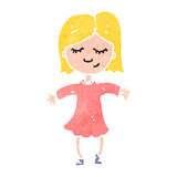 Retro cartoon blond girl Royalty Free Stock Photos