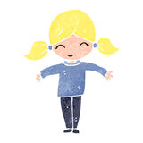 Retro cartoon blond girl Royalty Free Stock Photo