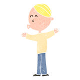 Retro cartoon blond man Royalty Free Stock Image