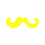 Retro cartoon blond mustache Royalty Free Stock Photos
