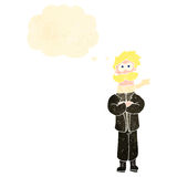 Retro cartoon blond pilot man Royalty Free Stock Photos