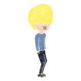 Retro cartoon blond teenager Royalty Free Stock Photo