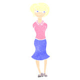 Retro cartoon blond woman Royalty Free Stock Images