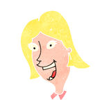 Retro cartoon blond woman Royalty Free Stock Image