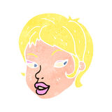 Retro cartoon blond woman Stock Photography