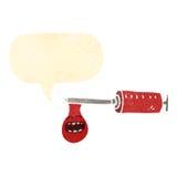 Retro cartoon blood needle with speech bubble Royalty Free Stock Image
