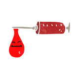retro cartoon blood syringe Stock Images