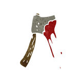 Retro cartoon bloody axe Royalty Free Stock Image