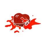 Retro cartoon bloody heart symbol Stock Image