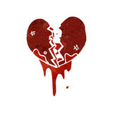 Retro cartoon bloody heart symbol Royalty Free Stock Photo
