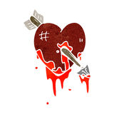 retro cartoon bloody heart symbol Royalty Free Stock Photography