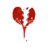 Retro cartoon bloody heart symbol Royalty Free Stock Image
