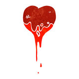 Retro cartoon bloody heart symbol Royalty Free Stock Photos