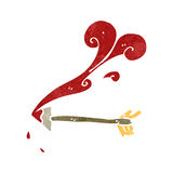 retro cartoon bloody medieval arrow Royalty Free Stock Photo