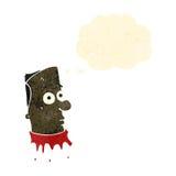 Retro cartoon bloody severed head Royalty Free Stock Photo