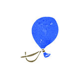 retro cartoon blue balloon Stock Images