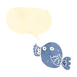 retro cartoon blue bird Royalty Free Stock Image