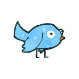 Retro cartoon bluebird Royalty Free Stock Photography