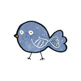 Retro cartoon bluebird Stock Photo