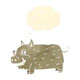 retro cartoon boar Stock Photos