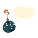 Retro cartoon bomb Royalty Free Stock Photos