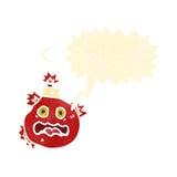 retro cartoon bomb with speech bubble Royalty Free Stock Image