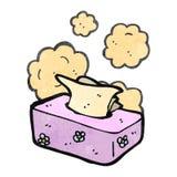 Retro cartoon box of tissues Stock Photo