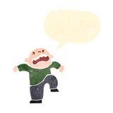 Retro cartoon boy having temper tantrum Stock Image