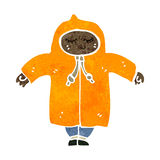 Retro cartoon boy in raincoat Royalty Free Stock Photo
