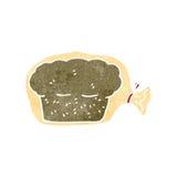 Retro cartoon bread in bag Royalty Free Stock Images