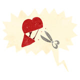 Retro cartoon breaking heart symbol Royalty Free Stock Photo