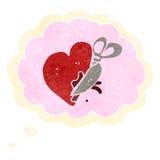Retro cartoon breaking heart symbol Royalty Free Stock Image