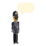 retro cartoon british policeman Royalty Free Stock Photo