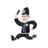 retro cartoon british policeman Stock Images
