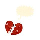 Retro cartoon broken heart Stock Image