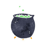 Retro cartoon bubbling cauldron Royalty Free Stock Photos