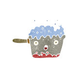 Retro cartoon bubbling pan Royalty Free Stock Photo