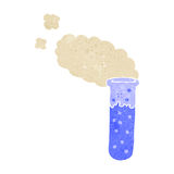 Retro cartoon bubbling test tube Royalty Free Stock Photography
