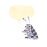 retro cartoon bug Royalty Free Stock Images