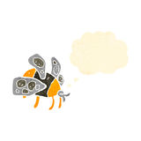 Retro cartoon bumblebee Royalty Free Stock Images