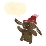 Retro cartoon bunny rabbit Stock Images