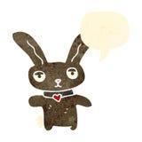 Retro cartoon bunny rabbit Royalty Free Stock Image