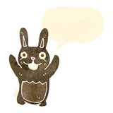 Retro cartoon bunny rabbit Royalty Free Stock Photos