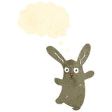 Retro cartoon bunny rabbit Royalty Free Stock Image