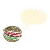 Retro cartoon burger Royalty Free Stock Photography