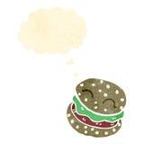 Retro cartoon burger Royalty Free Stock Photo