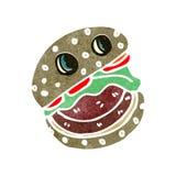 Retro cartoon burger Stock Image